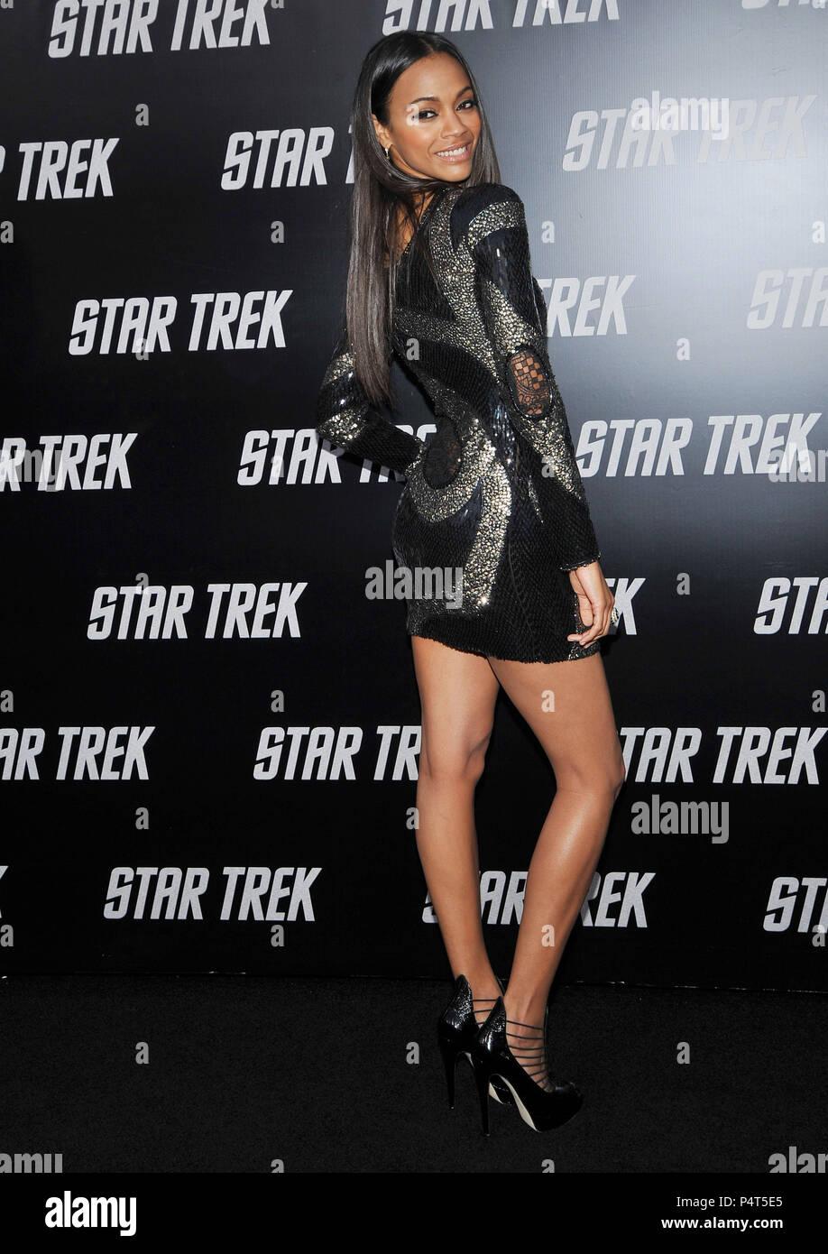 Zoe Saldana Star Trek Los Angeles Premiere At The Chinese