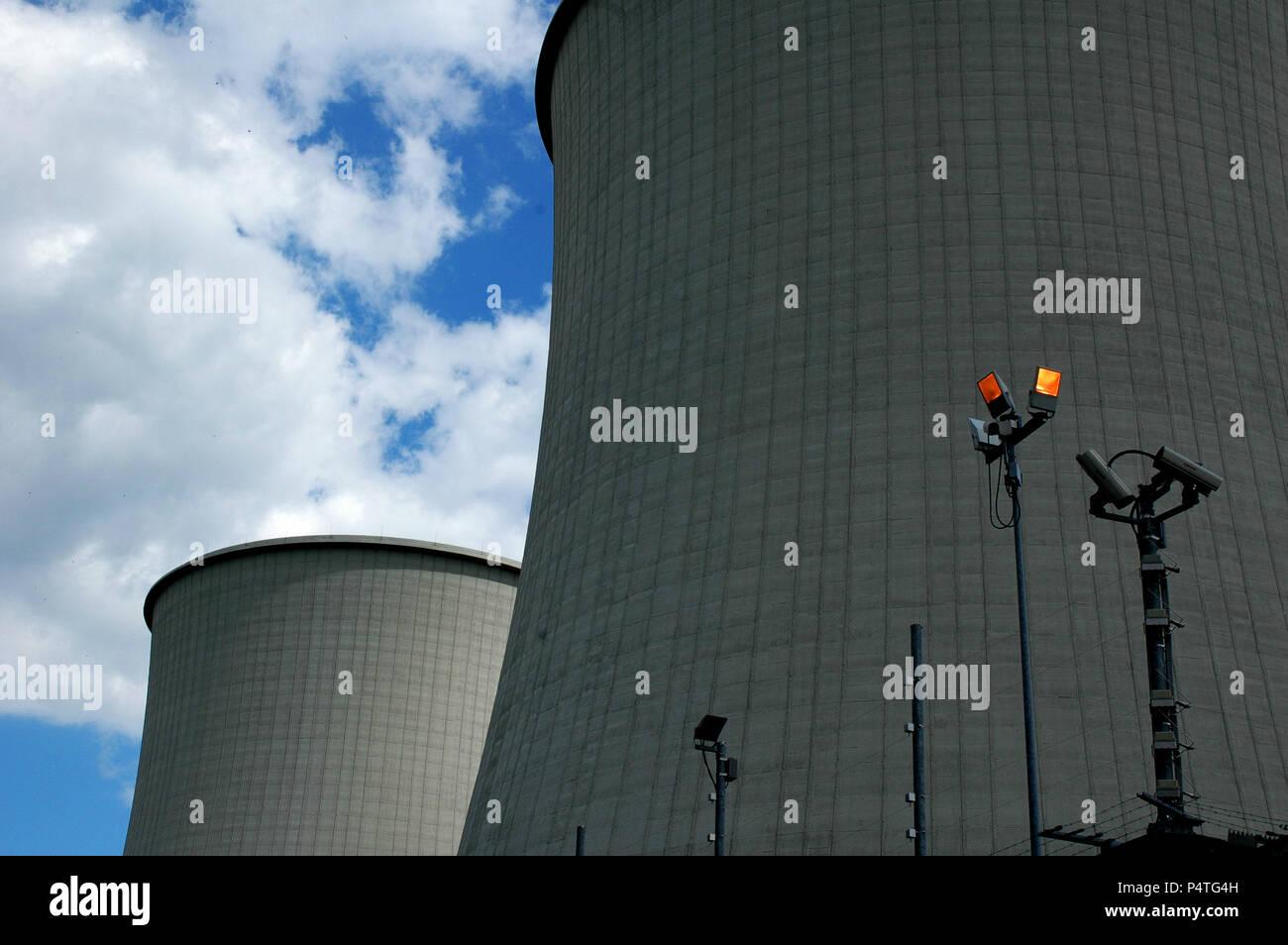 Atomic power Plant, Nuke, Atomkraftwerk - Stock Image