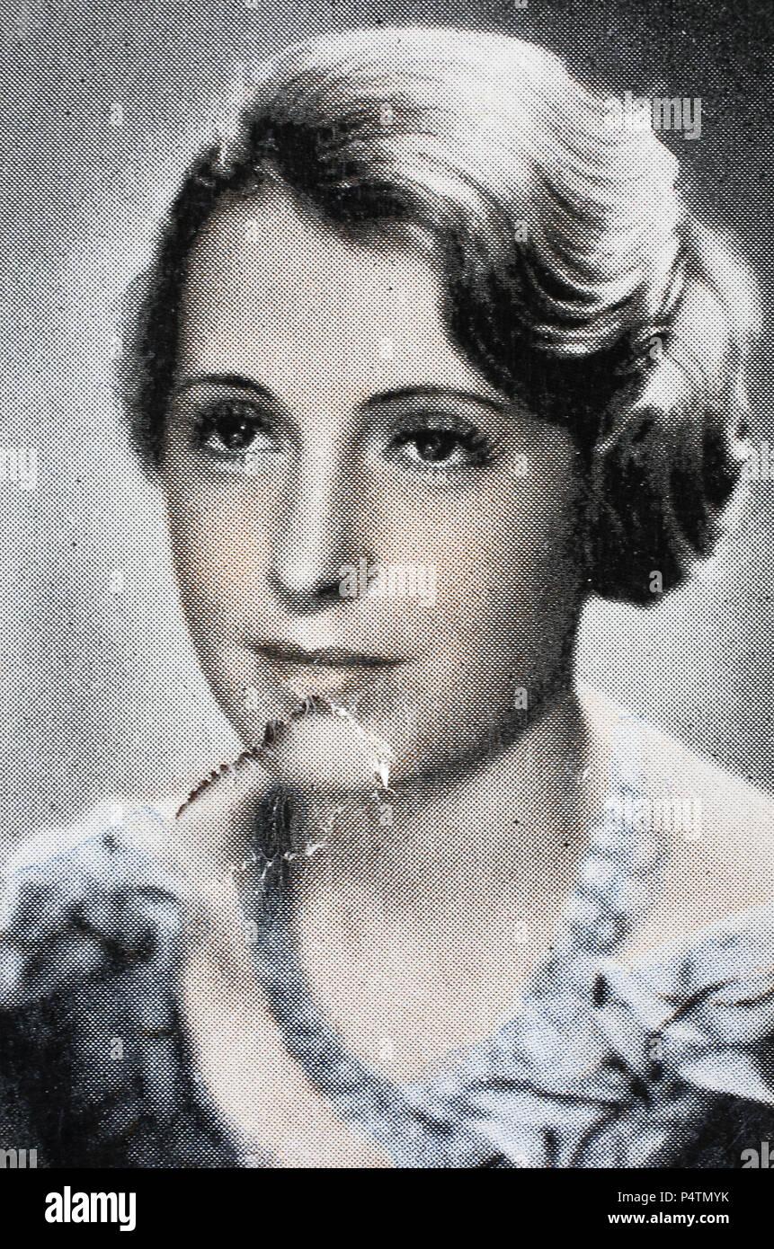 Ilse Stobrawa ( 9. Februar 1908 - 1987) war bis 1945 eine deutsche Schauspielerin, digital improved reproduction of an historical image - Stock Image