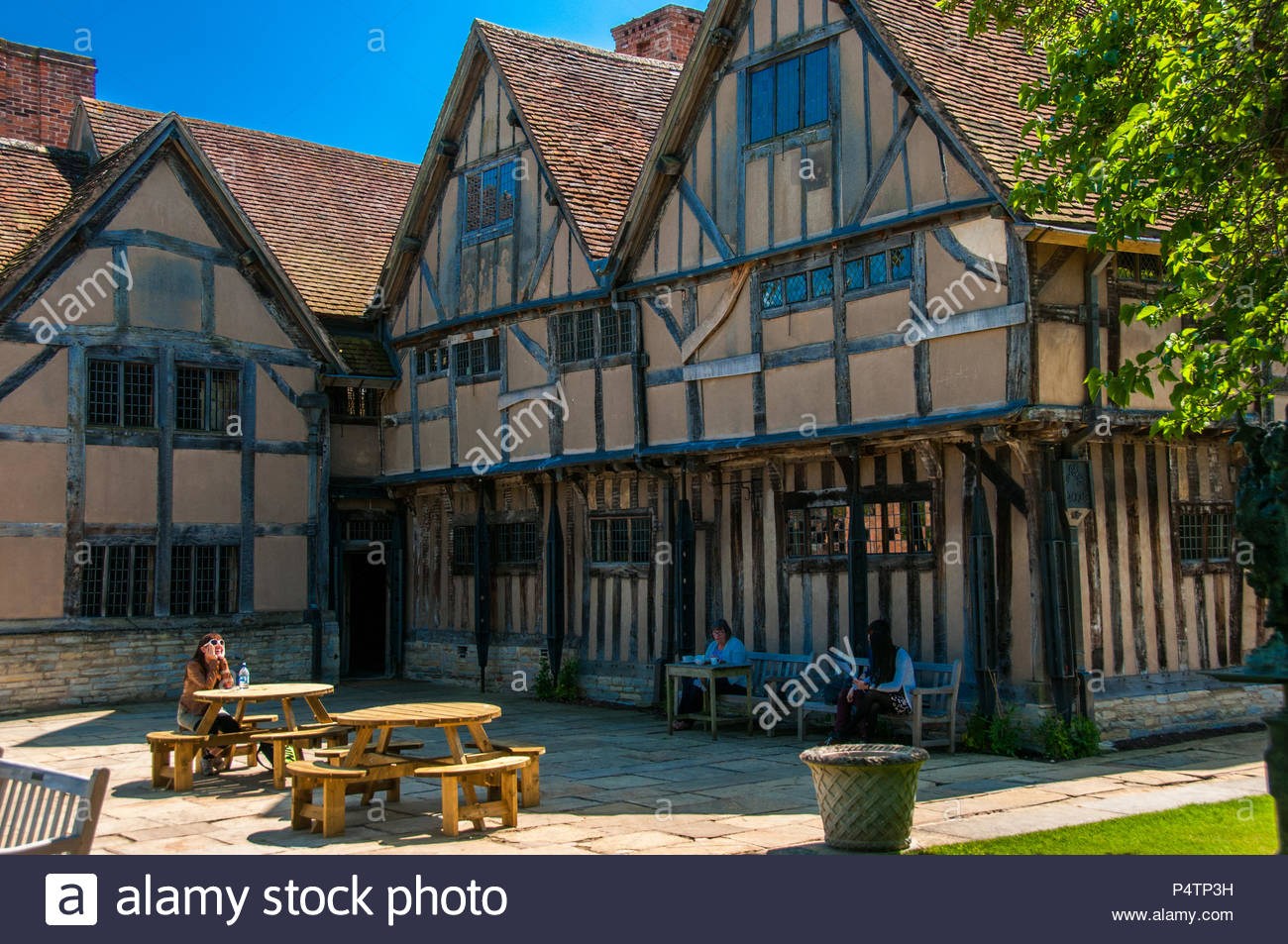 Hall's Croft where Shakespeare's daughter lived with her husband in Stratford-upon-Avon. Stock Photo