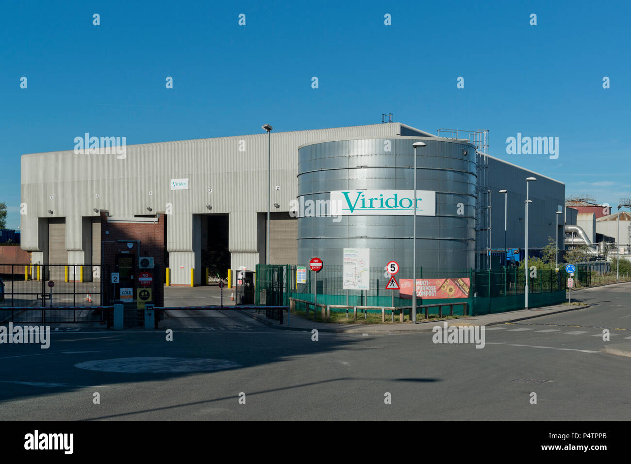 Viridor waste recycling centre located off Longley Lane in Sharston, Manchester, UK. - Stock Image