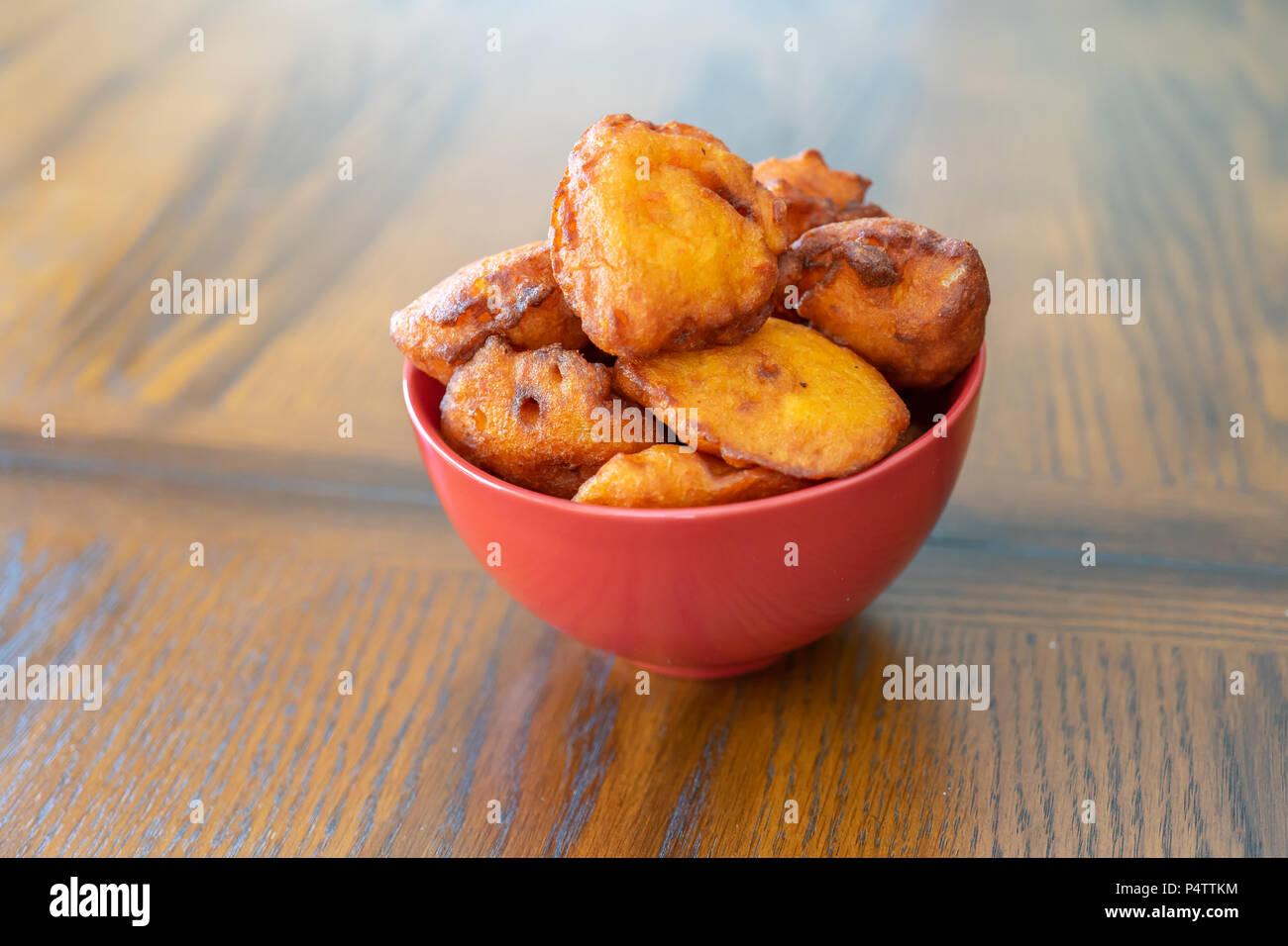 Nigerian Deep Fried akara Ready to Eat - Stock Image