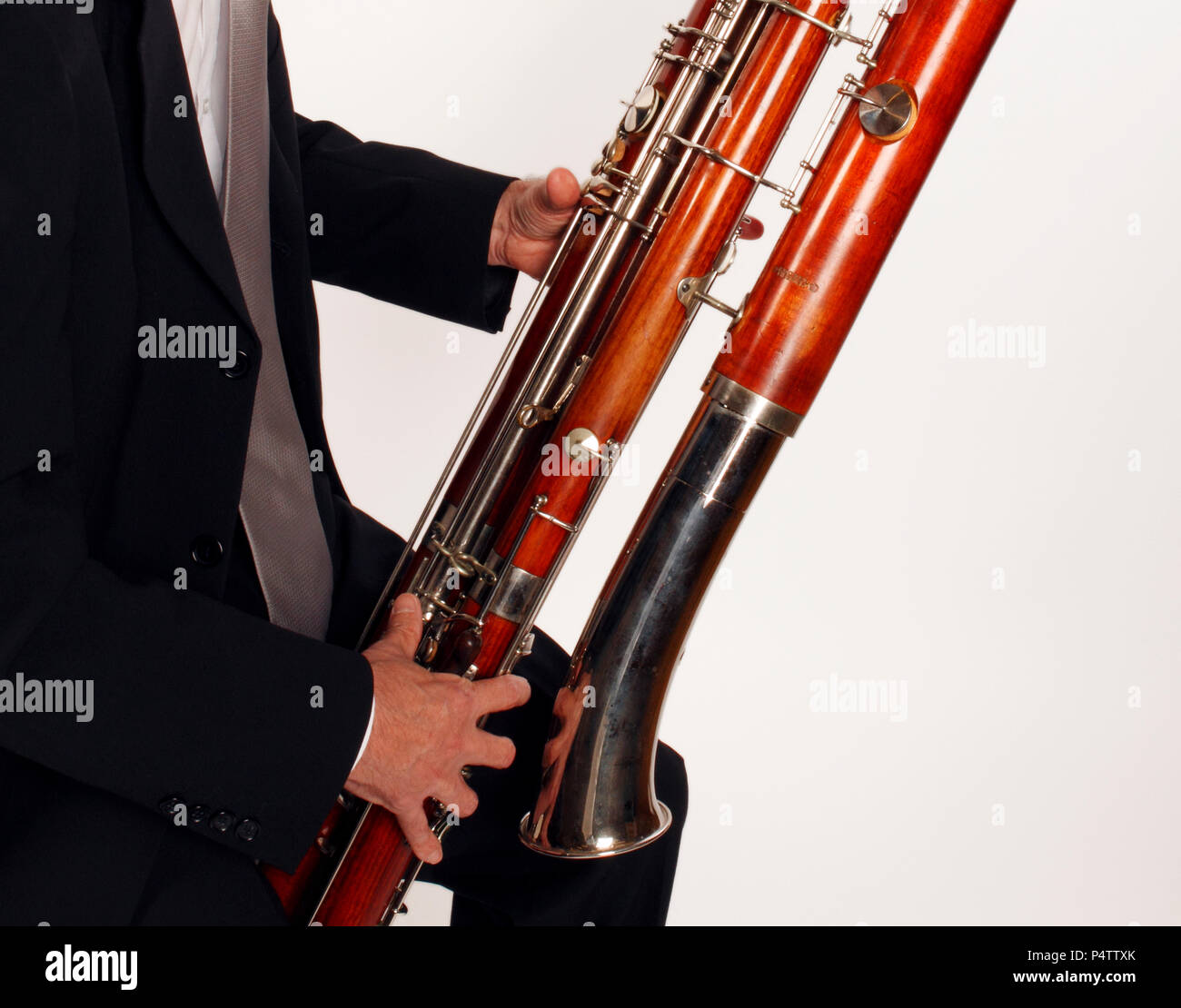 Generic - Contra Bassoon made by Heckel in playing position