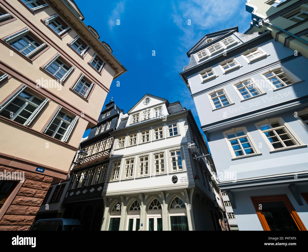 Germany, Hesse, Frankfurt, Old town, reconstructions of houses - Stock Image