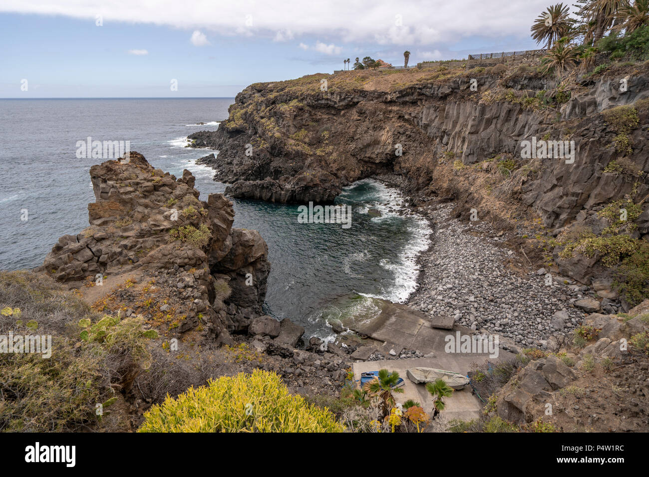 Views Of The Playa De Los Barqueros In Northen Part Of Tenerife