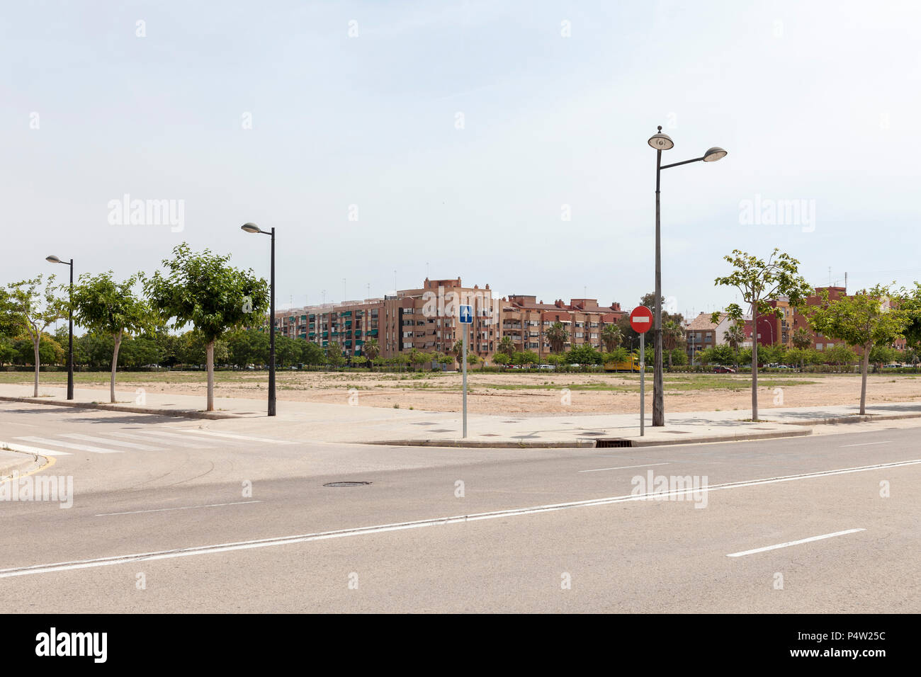 Valencia, Spain, housing estate and undeveloped land - Stock Image