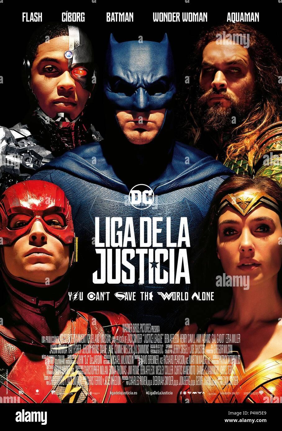 Original Film Title: JUSTICE LEAGUE.  English Title: JUSTICE LEAGUE.  Film Director: ZACK SNYDER.  Year: 2017. Credit: DC COMICS/DC ENTERTAINMENT / Album - Stock Image