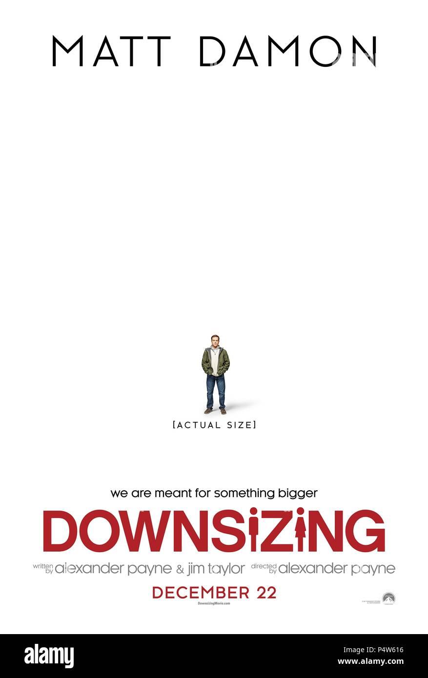 Original Film Title: DOWNSIZING.  English Title: DOWNSIZING.  Film Director: ALEXANDER PAYNE.  Year: 2017. Credit: PARAMOUNT PICTURES / Album - Stock Image
