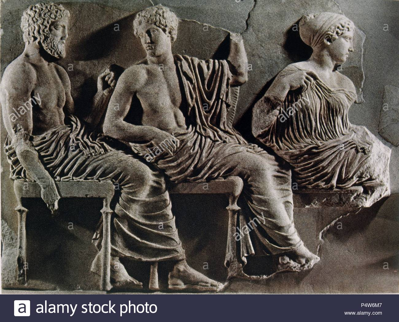 fdc04f5560c0 DETALLE DEL FRISO DEL PARTENON - POSEIDON APOLO Y ARTEMISA - SIGLO V AC.  Location  MUSEO DE LA ACROPOLIS