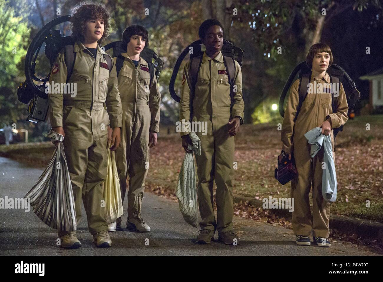 Description: Season 2.  Original Film Title: STRANGER THINGS.  English Title: STRANGER THINGS.  Film Director: MATT DUFFER; ROSS DUFFER.  Year: 2016.  Stars: GATEN MATARAZZO; CALEB MCLAUGHLIN; FINN WOLFHARD; NOAH SCHNAPP. Credit: 21 LAPS ENT/MONKEY MASSACRE / Album - Stock Image
