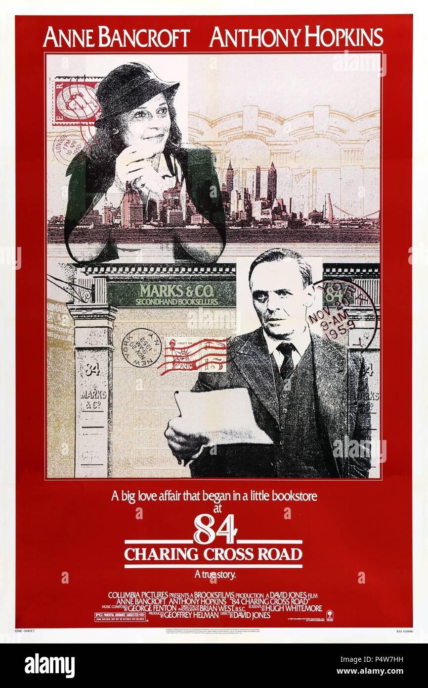big sale 874ef 30b54 English Title  84 CHARING CROSS ROAD. Film Director  DAVID HUGH JONES.  Year  1987. Credit  COLUMBIA PICTURES   Album