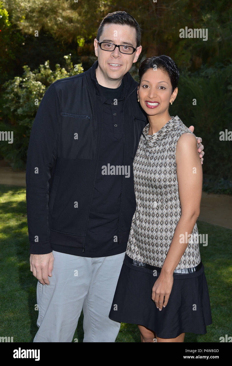 Aron Gaudet, Gita Pullapilly  attends Variety's Creative Impact Awards and 10 Directors to Watch brunch presented by Mercedes-Benz at The 25th Annual Palm Springs International Film Festival at Parker Palm SpringsAron Gaudet, Gita Pullapilly  ------------- Red Carpet Event, Vertical, USA, Film Industry, Celebrities,  Photography, Bestof, Arts Culture and Entertainment, Topix Celebrities fashion /  Vertical, Best of, Event in Hollywood Life - California,  Red Carpet and backstage, USA, Film Industry, Celebrities,  movie celebrities, TV celebrities, Music celebrities, Photography, Bestof, Arts C - Stock Image