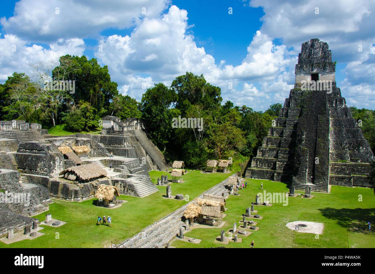 Tikal - Maya Ruins in the rainforest of Guatemala - Stock Image