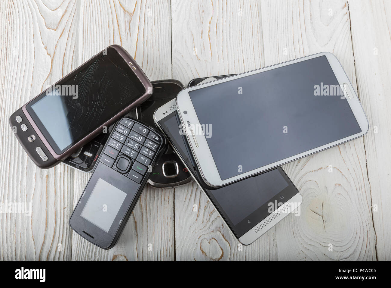 Old mobile phone. - Stock Image