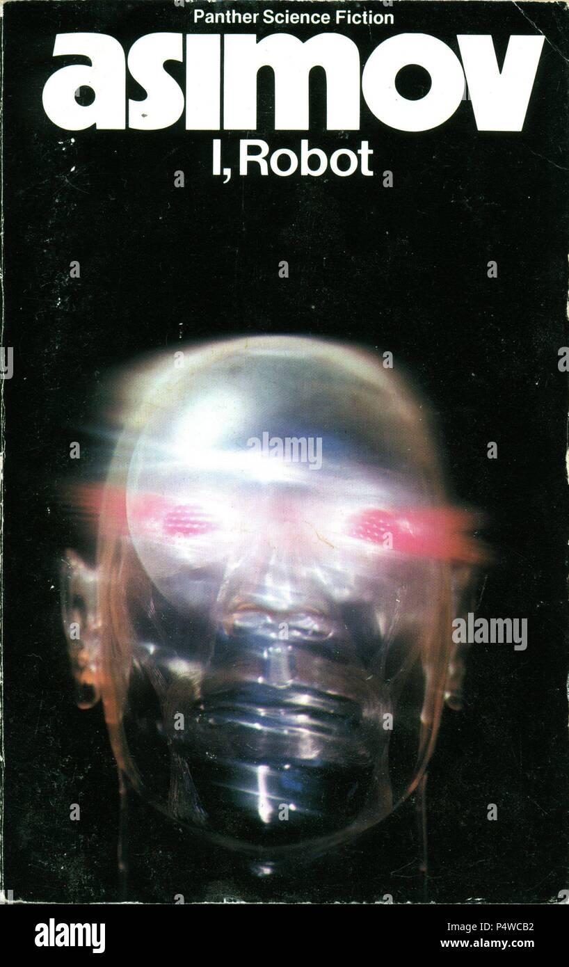 Book cover 'I, Robot'. Isaac Asimov. - Stock Image
