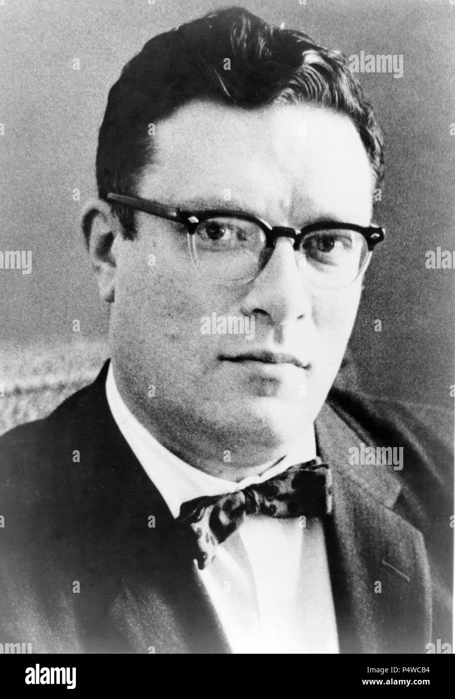 Isaac Asimov (1920-1992), American author known for his works of science fiction and for his popular science books. - Stock Image