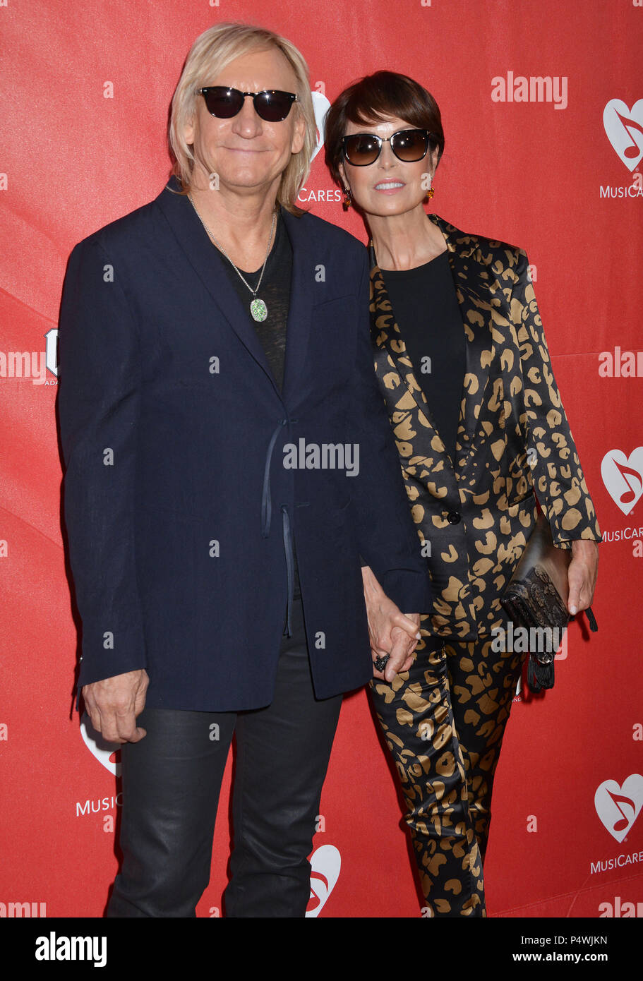 Joe Walsh, Marjorie Bach 155 at the 10th Musicares Benefit Concert