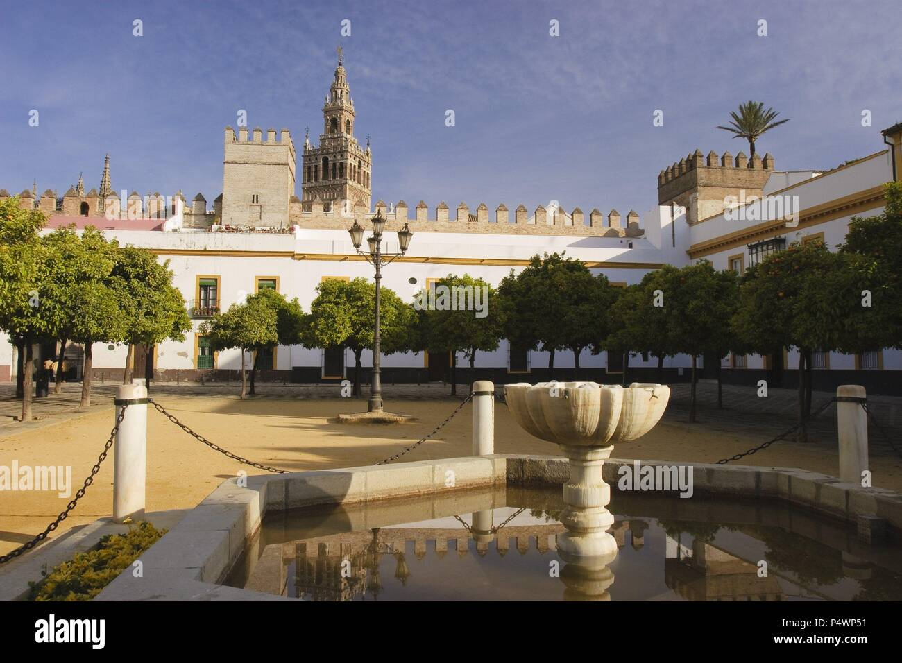 Patio De Las Banderas Santa Cruz Quarter Sevilla City Andalusia