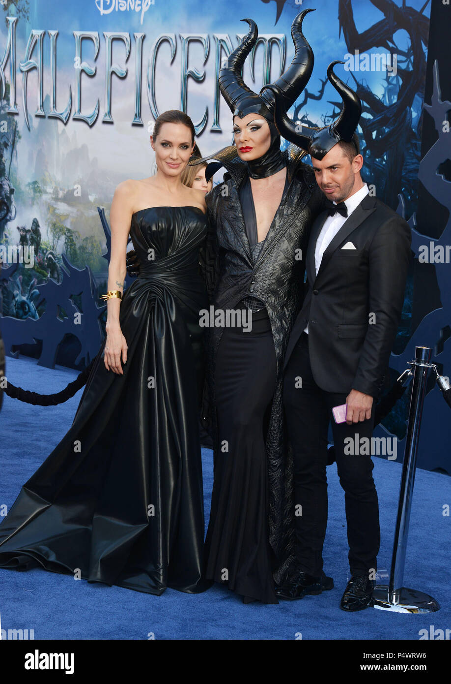 Angelina Jolie At The Maleficent Premiere At The El Capitan