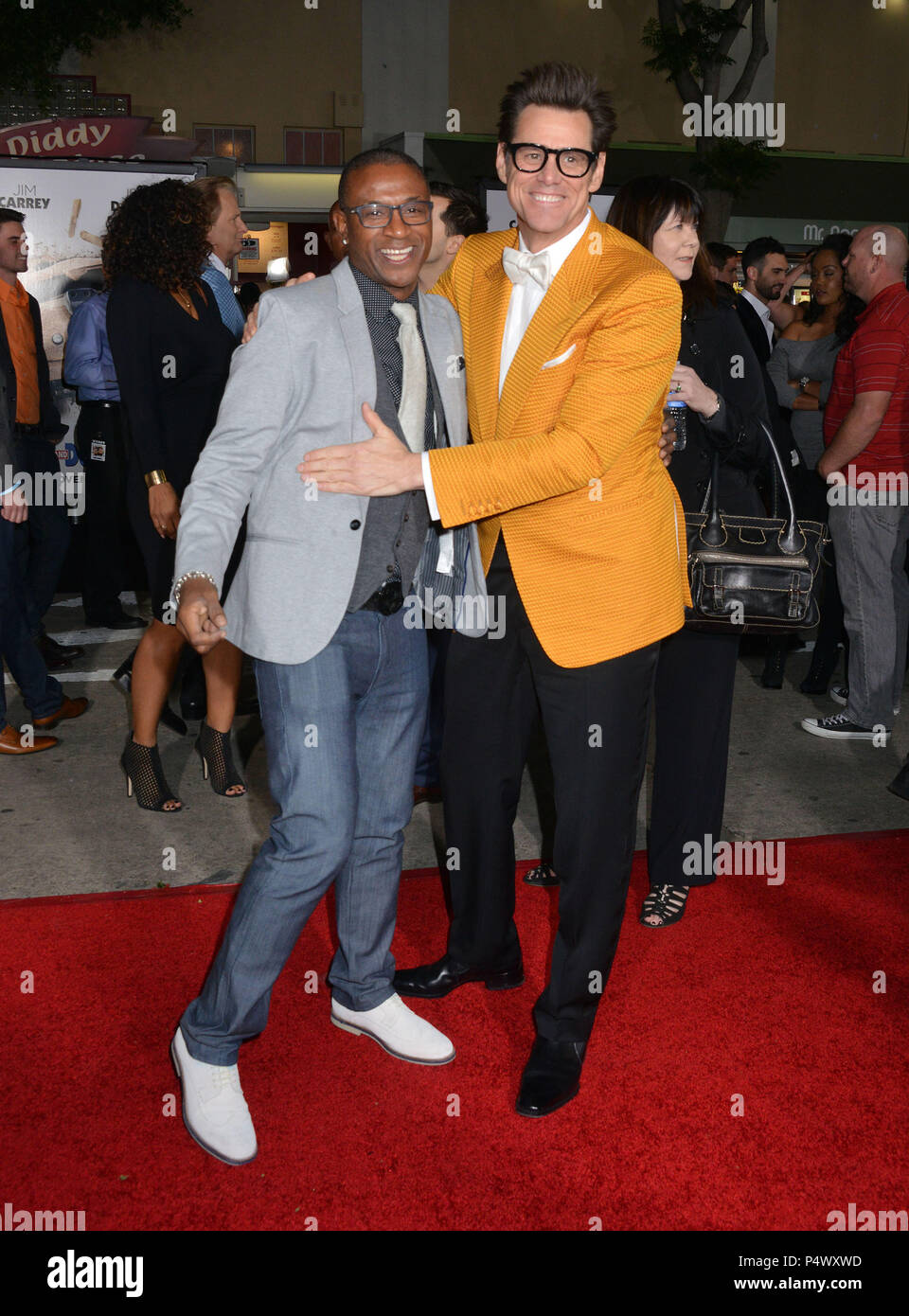 Jim Carrey, Tommy Davidson 187 at the Dumb and Dumber To