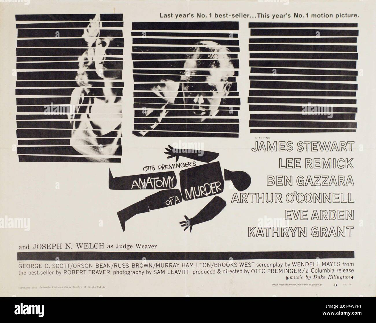 Original Film Title: ANATOMY OF A MURDER. English Title: ANATOMY OF ...