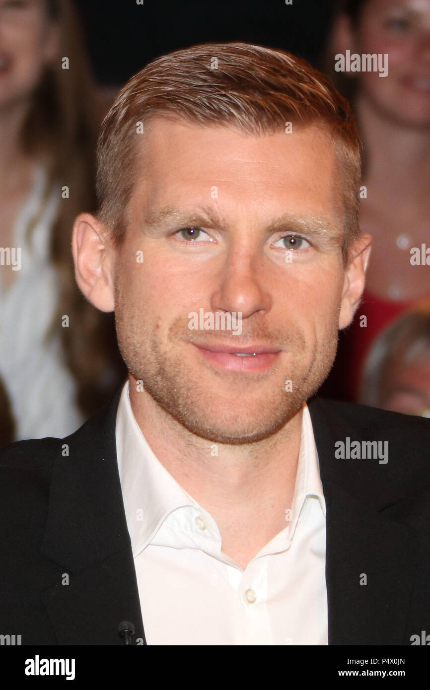 Guests at Markus Lanz Talkshow in Hamburg  Featuring: Per Mertesacker (Ex-Fussballprofi) Where: Hamburg, Germany When: 22 May 2018 Credit: Becher/WENN.com - Stock Image