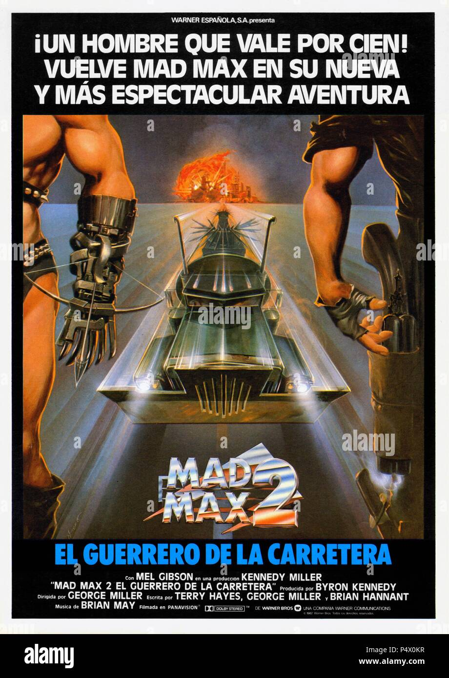Original Film Title: THE MAD MAX II: ROAD WARRIOR.  English Title: THE MAD MAX II: ROAD WARRIOR.  Film Director: GEORGE MILLER.  Year: 1981. Credit: WARNER BROTHERS / Album Stock Photo