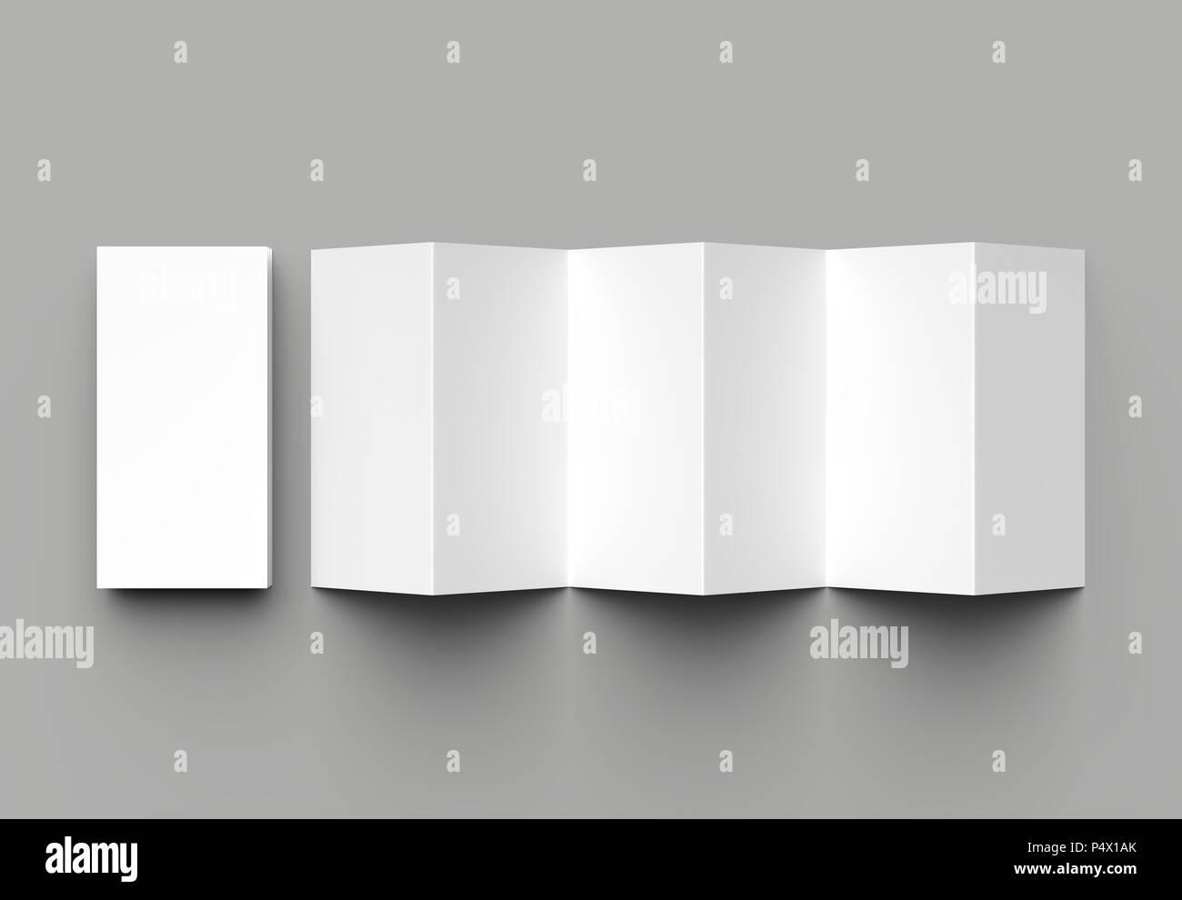 12 page leaflet 6 panel accordion fold z fold vertical brochure