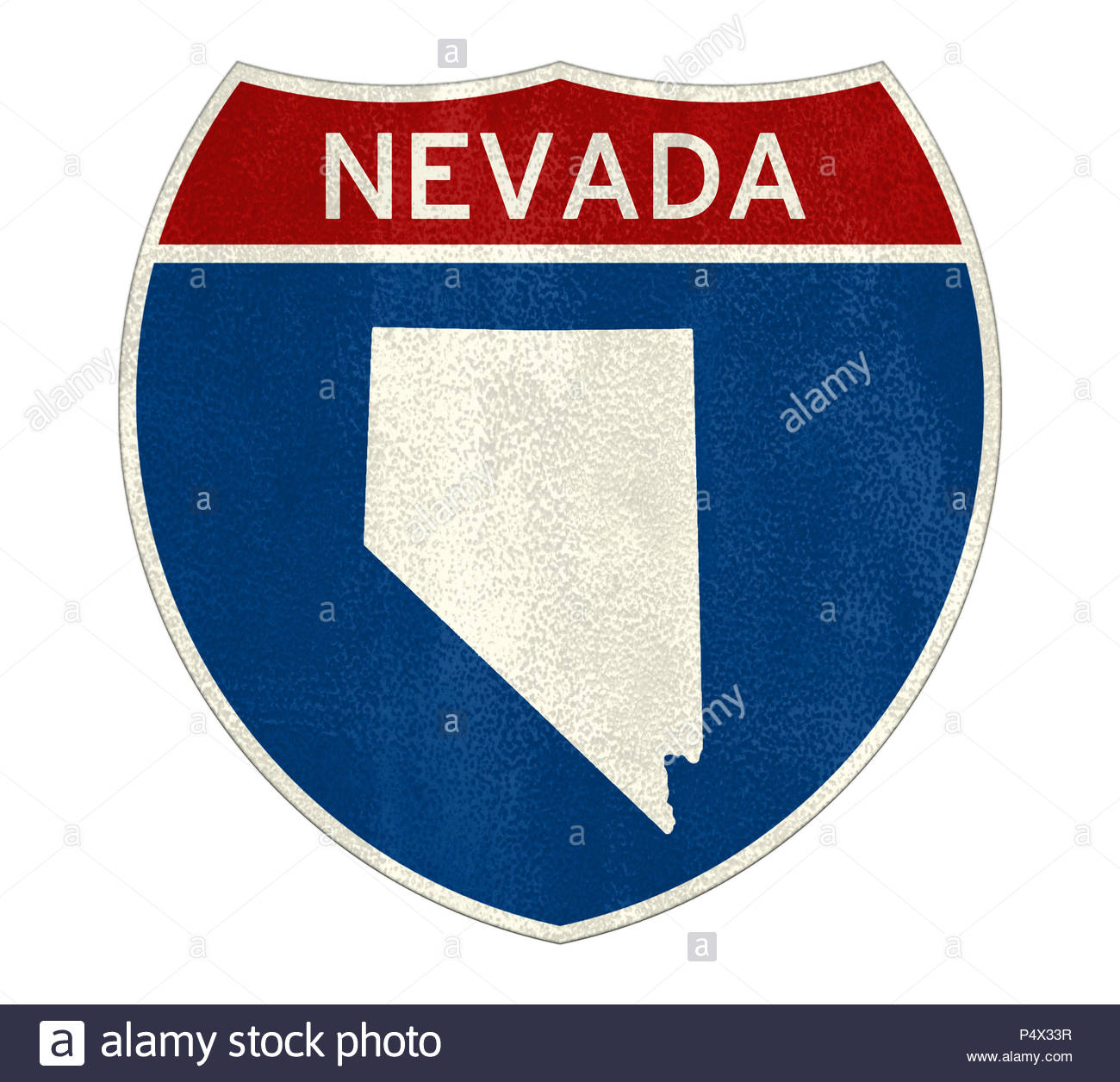 Nevada State Interstate road sign - Stock Image