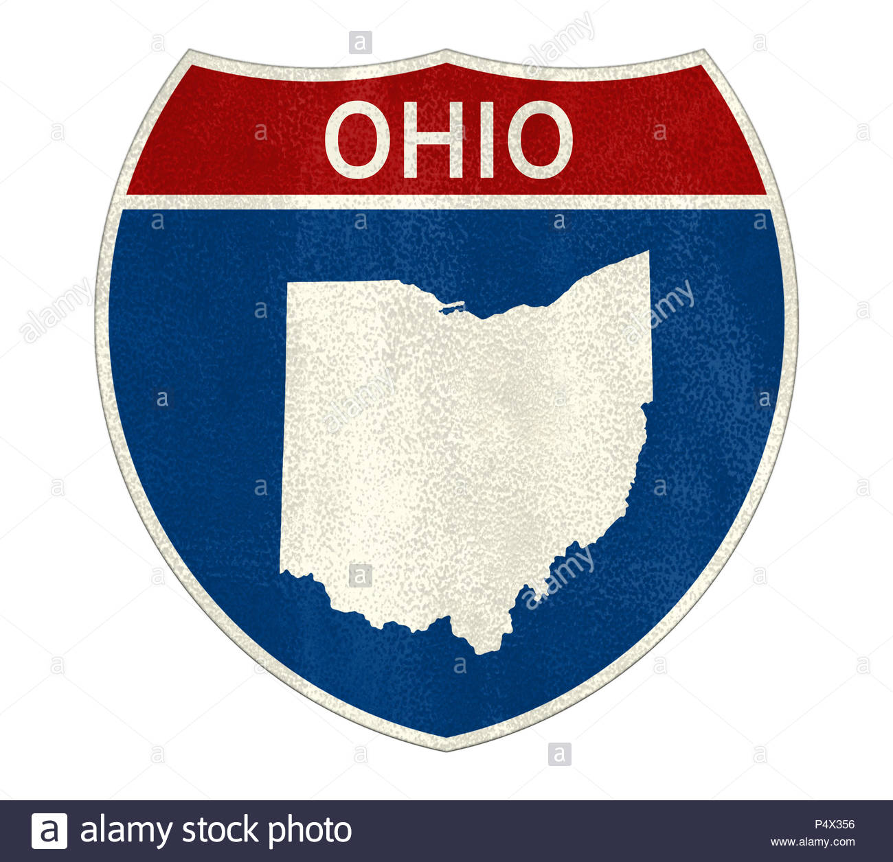 Ohio State Interstate road sign - Stock Image