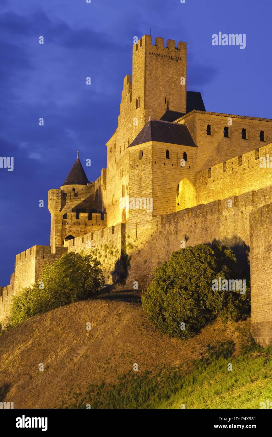 Cathar Castle of Carcassonne. Aude. France Stock Photo   Alamy