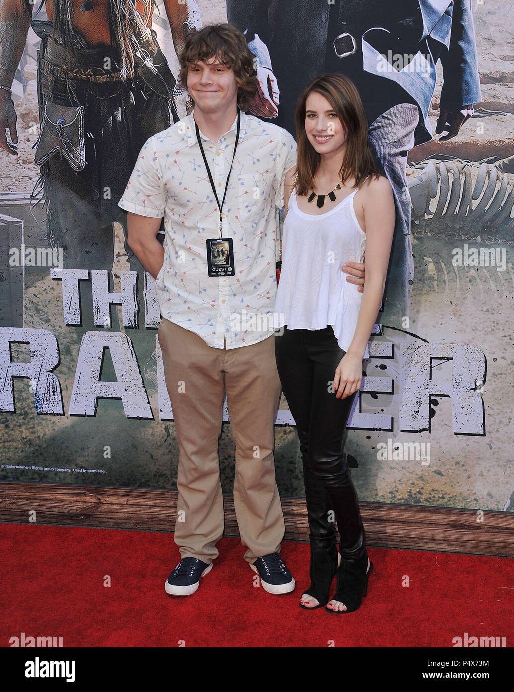 Evan Peters Emma Roberts Arriving At The Lone Ranger Premiere At The Disney California Adventure Park In Anaheim Evan Peters Emma Roberts Event In Hollywood Life California Red Carpet Event Usa Film