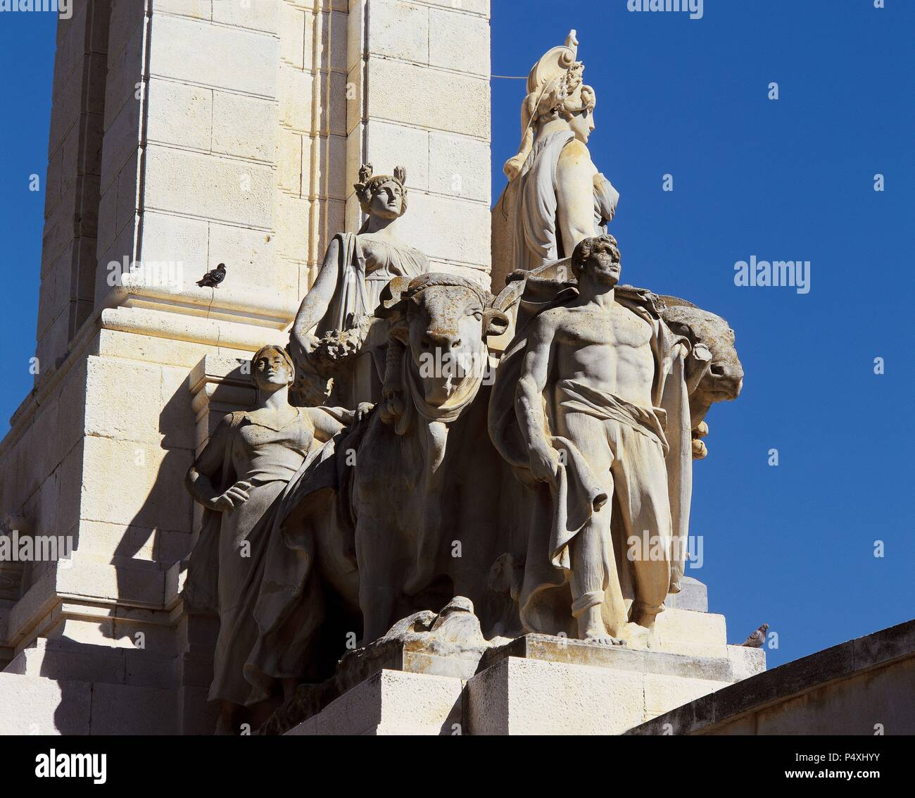 MONUMENTO A LAS CORTES LIBERALES, obra de Aniceto MARINAS. Detalle ...