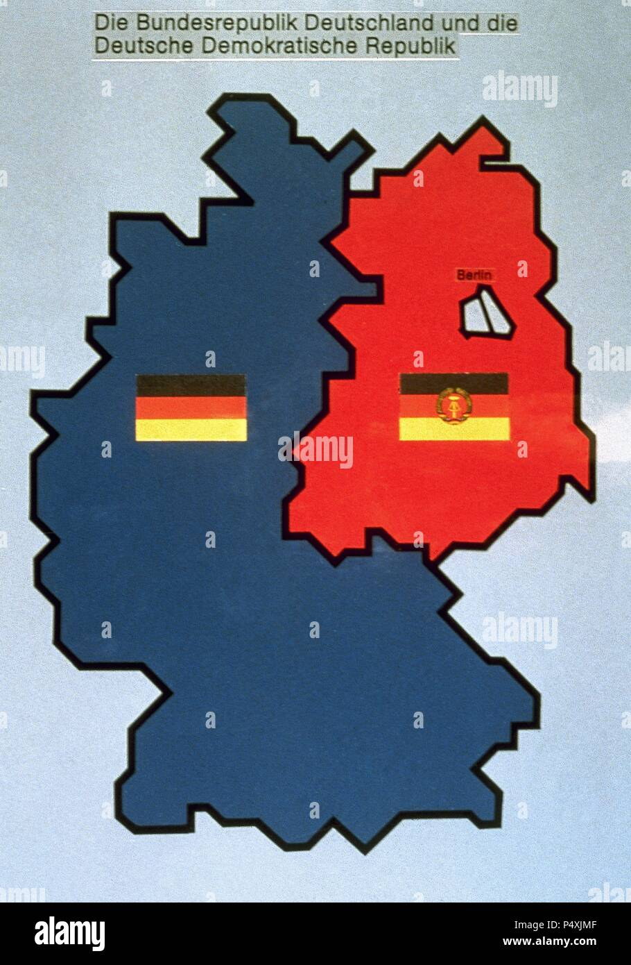 History Of Germany 1949 1990 Map Of The Federal And Democratic