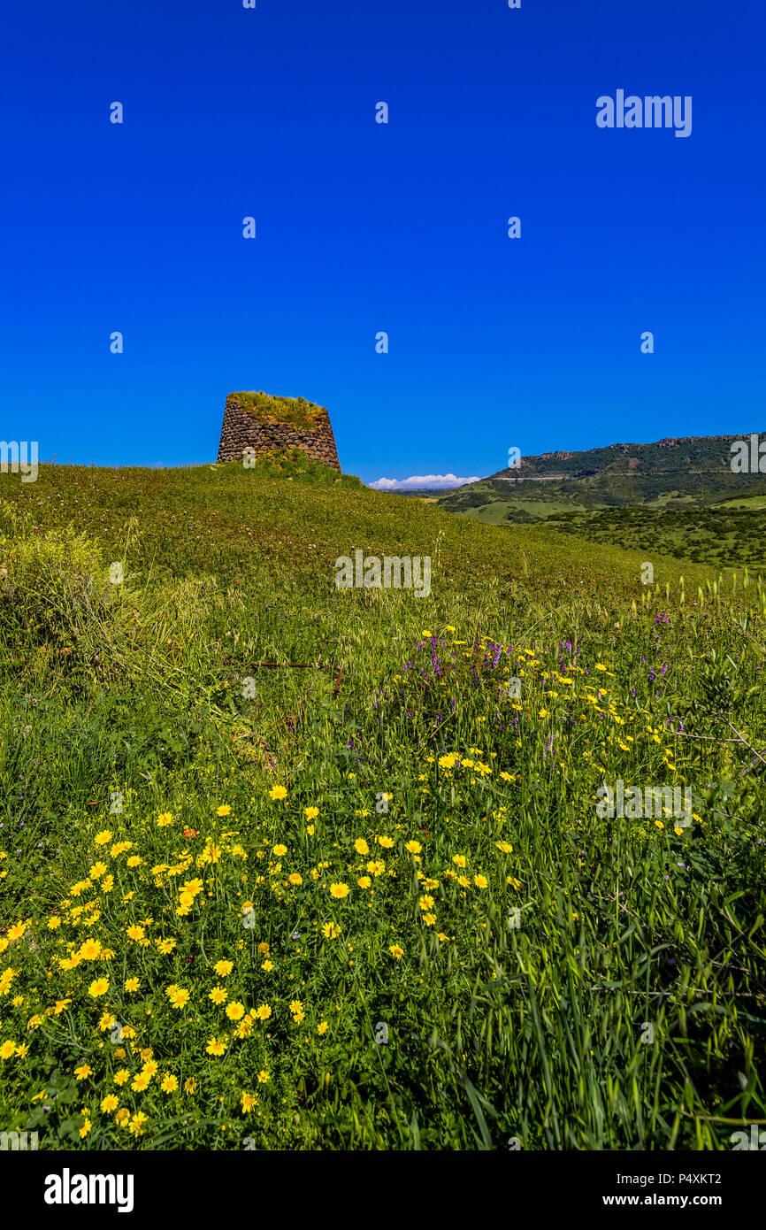 Italy Sardinia Anglona Nuraghe Paddaggiu near Castelsardo - Stock Image