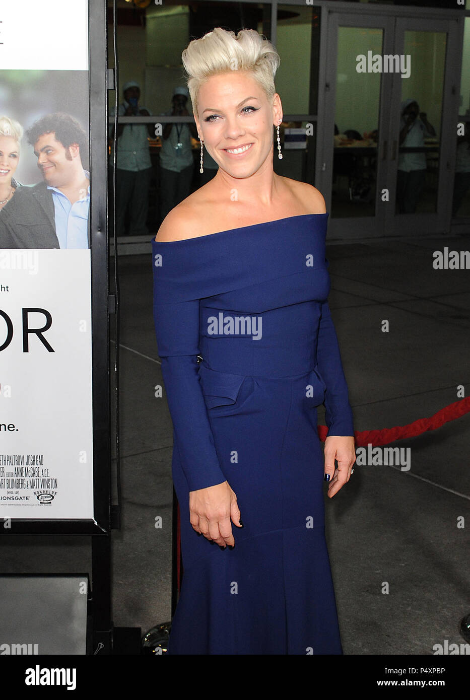 81b91cfc3d14 Alecia Moore - Pink arriving Thank You For Sharing Premiere at the Arclight  Theatre In Los