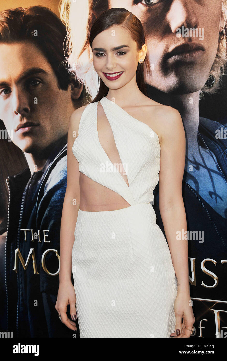 36351f59d19a87 Lily Collins at the The Mortal Instruments City Of Bones Premiere at the  Arclight Theatre In