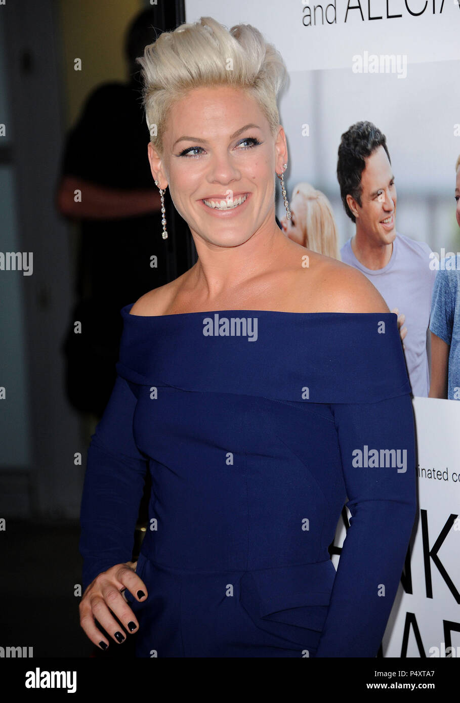 441afc336e4f Alecia Moore - arriving Thank You For Sharing Premiere at the Arclight  Theatre In Los Angeles