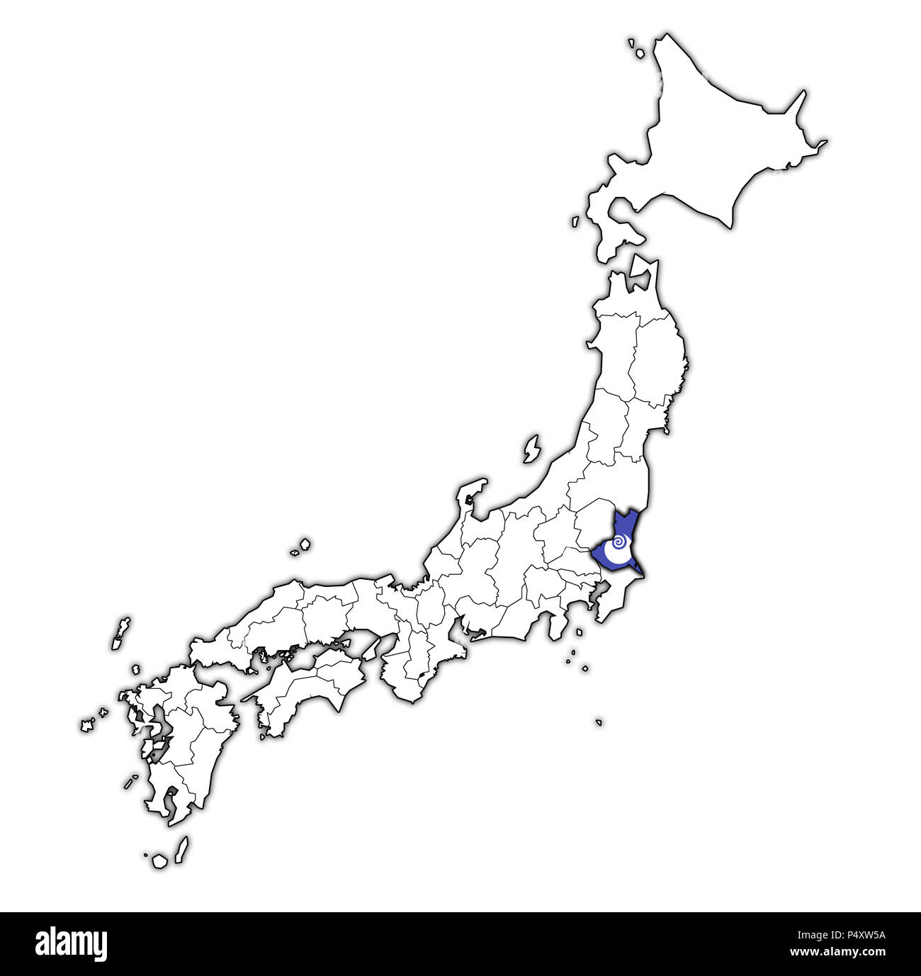 Ibaraki Japan Map.Ibaraki Map Stock Photos Ibaraki Map Stock Images Alamy