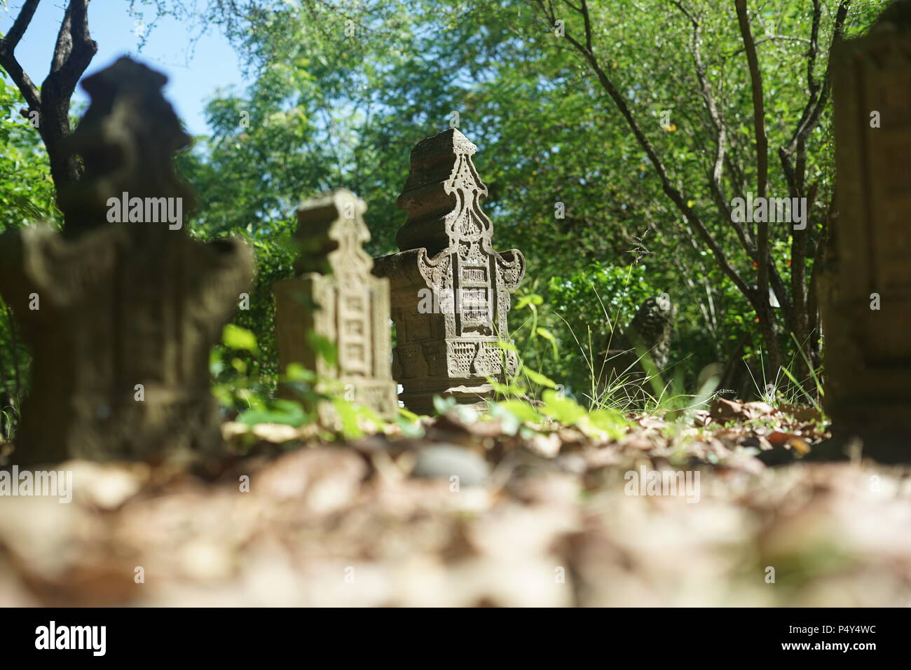 Ancient Aceh tombstone as an Islamic cultural heritage in southeast asia - Stock Image