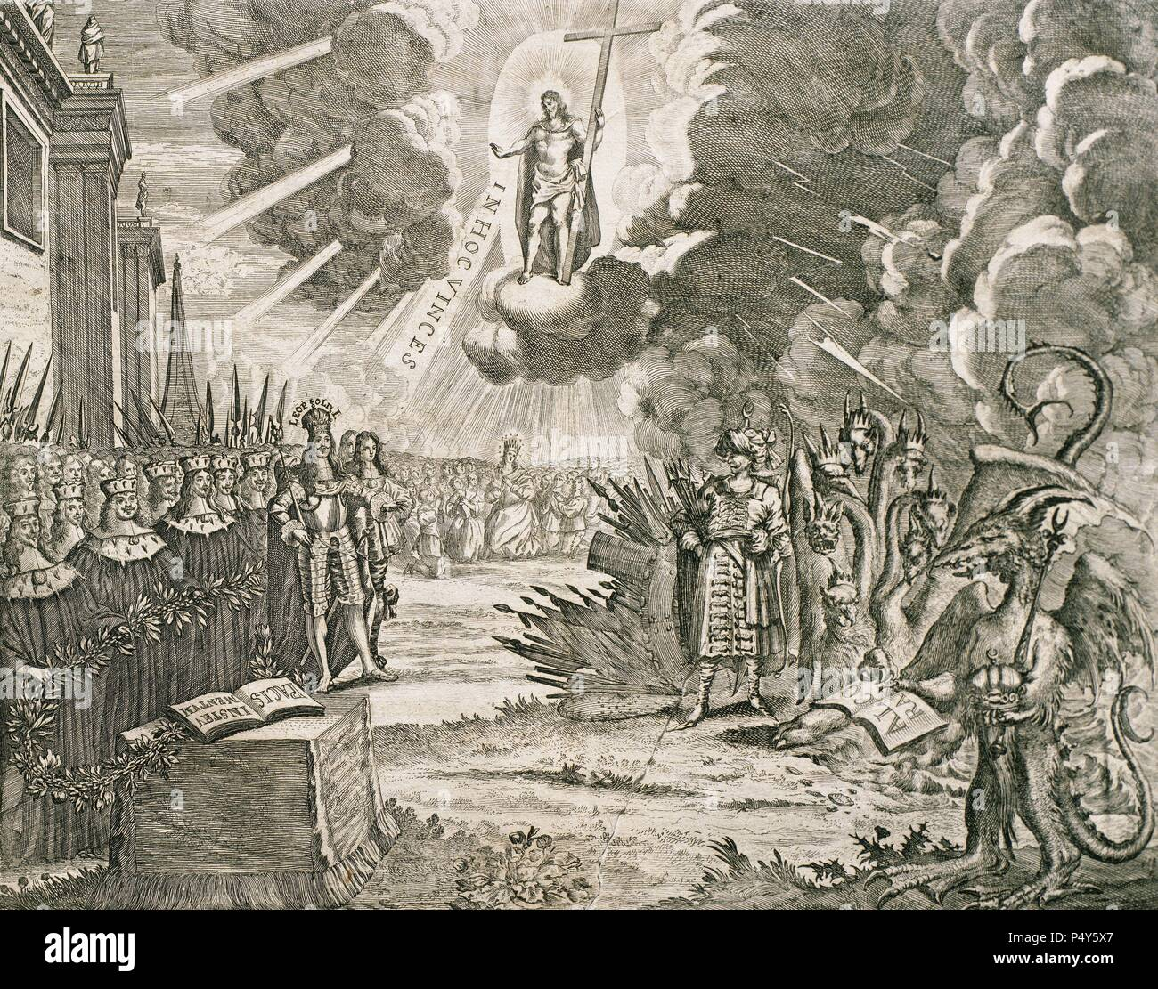 Signed on January 26, 1699 in the Serbian city of Karlowitz (Sremski  Karlovci current) between the Ottoman Empire and the Holy League of 1684.  Engraving.