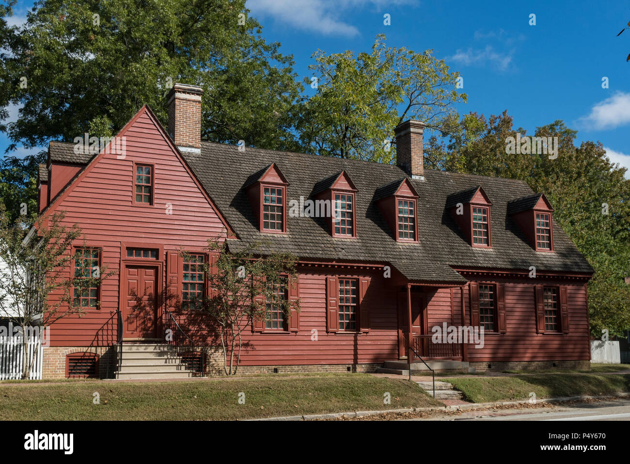Colonial Williamsburg George Davenport House. - Stock Image