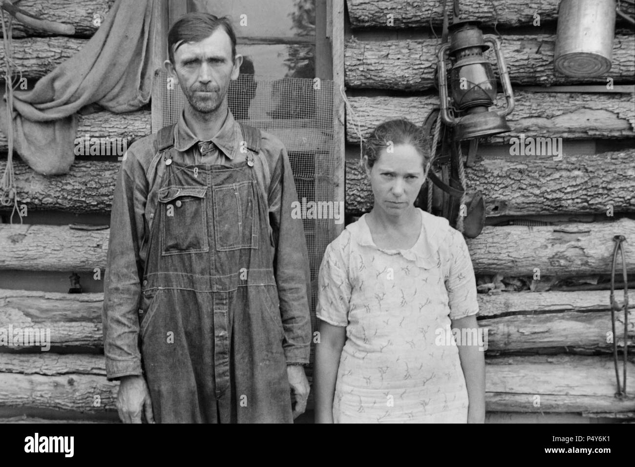 Rehabilitation Clients, Boone County, Arkansas, USA, Ben Shahn for U.S. Resettlement Administration, October 1935 - Stock Image