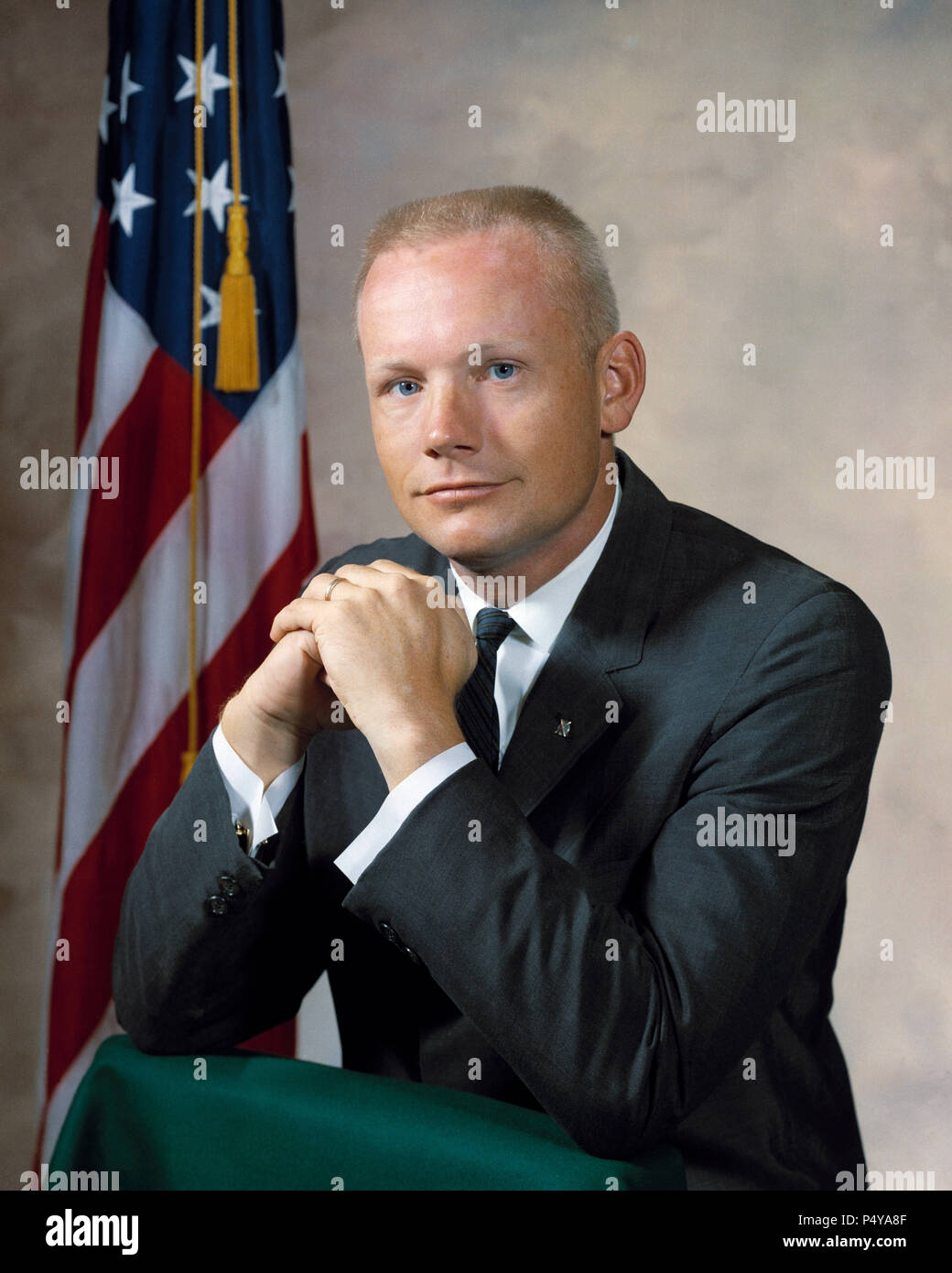 Astronaut Neil A. Armstrong Stock Photo