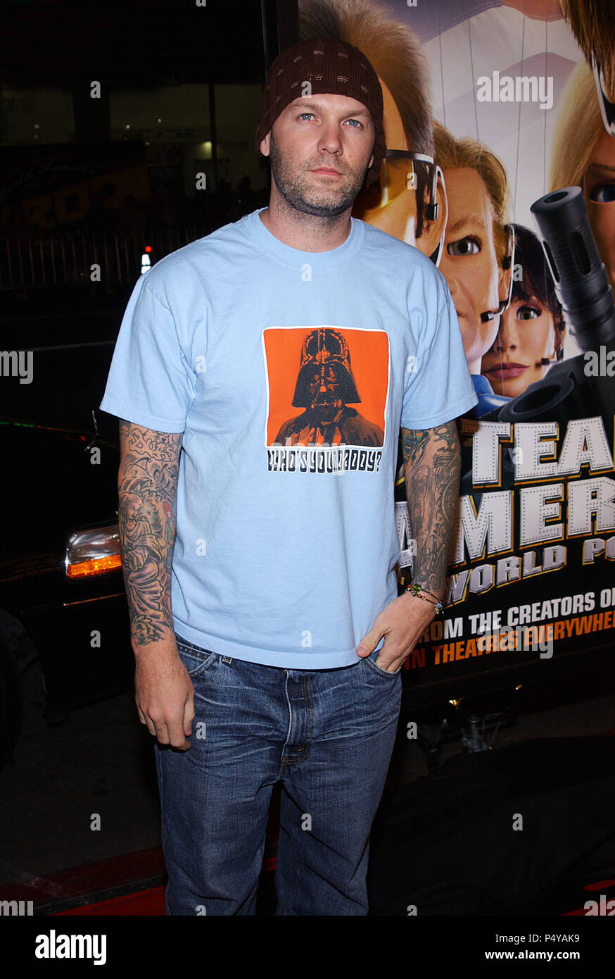 e51052945811c Fred Durst arriving at the Team American  World Police Premiere at the  Chinese Theatre in