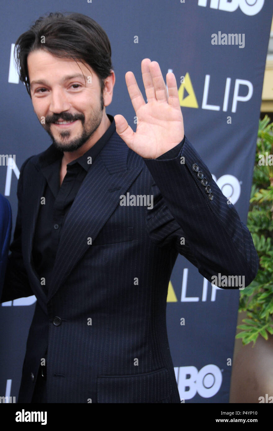 LOS ANGELES, CA - JULY 23: Actor Diego Luna attends the NALIP Latino Media Awards on June 23, 2018 at The Ray Dolby Ballroom in Los Angeles, California. Photo by Barry King/Alamy Live News Stock Photo