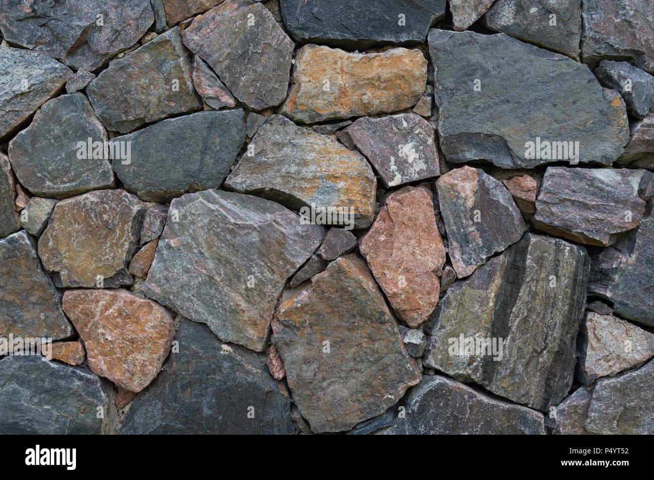 Stone Wall Background - Stock Image