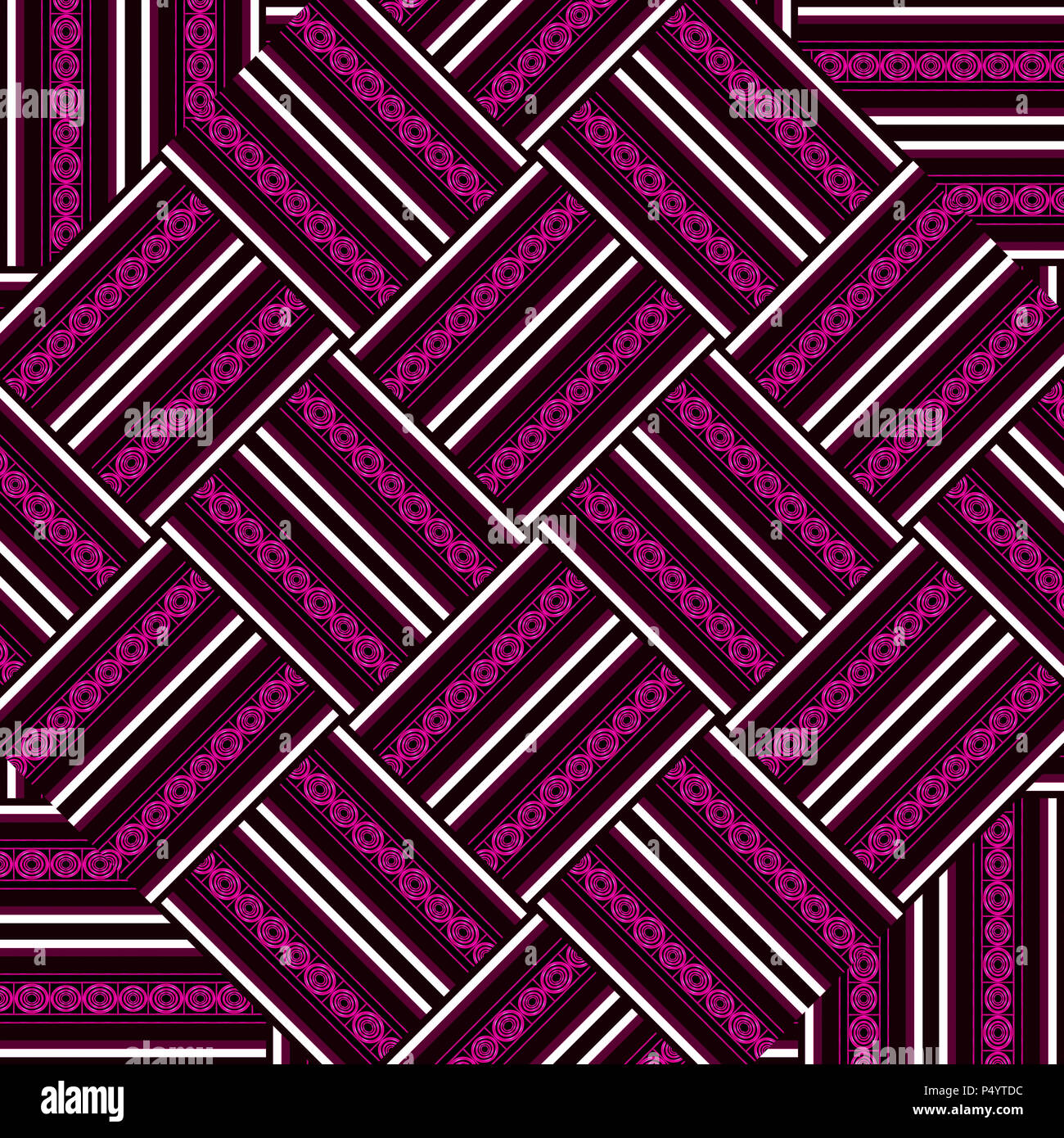 Digital art technique ethnic abstract geometric thread pattern