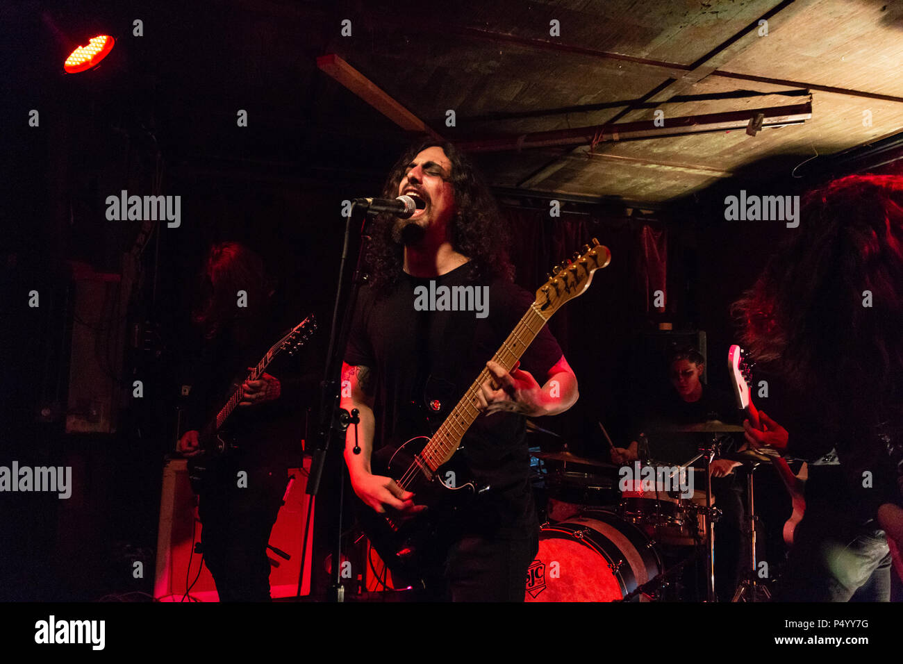 Post-Black Metal band Ghost Bath, performing at Thee Parkside in San Francisco, CA on April 20, 2017. Photo by Geoffrey Smith II - Stock Image