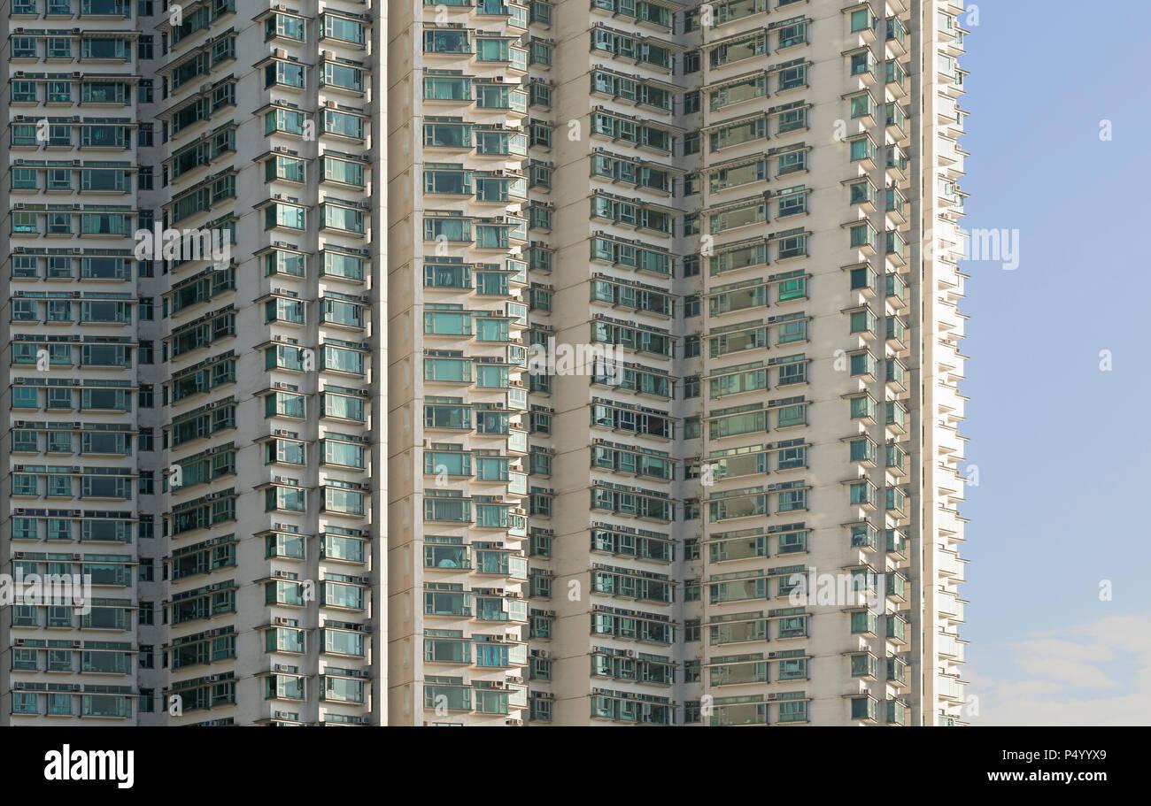 China, Hong Kong, Lantau Island, high-rise residential building - Stock Image